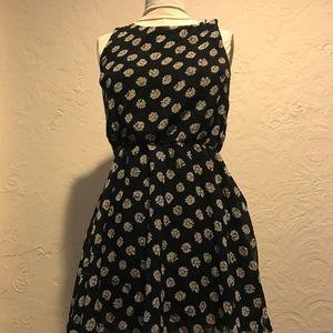 Fun & Flirt Black Sunflower Skater Dress
